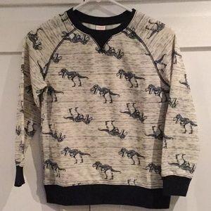 Gymboree dinosaur crew neck sweatshirt M (7-8)